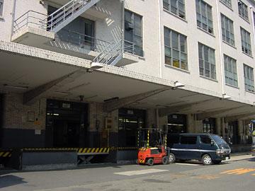 東京中央郵便局 荷捌き口