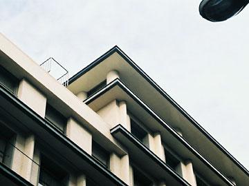 大阪ガスビルディング 頂部のディテール