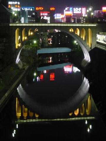 御茶ノ水橋からみた夜景