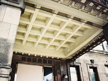 庇裏の天井の格子