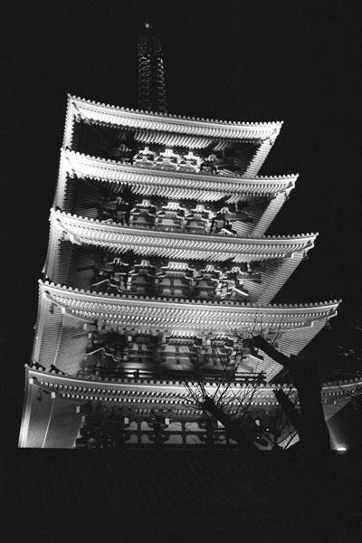 The Five-storied Pagoda, Senso-ji, Asakusa, Tokyo, Japan